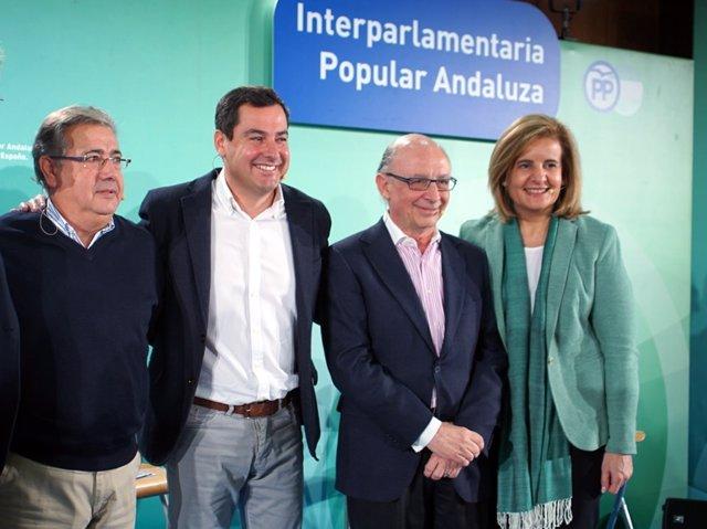 Zoido, Moreno, Montoro y Báñez en la Interparlamentaria del PP-A