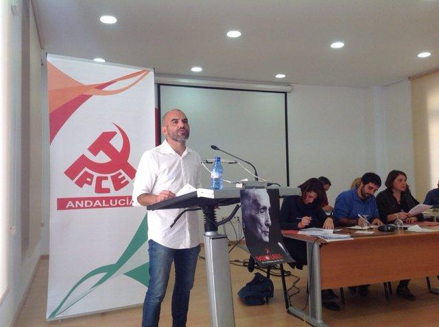 Secretario general del PCA, José Manuel Mariscal
