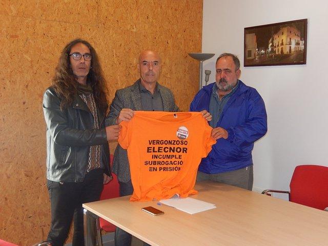 El diputado del PSOE Antonio Hurtado se reúne con representantes sindicales
