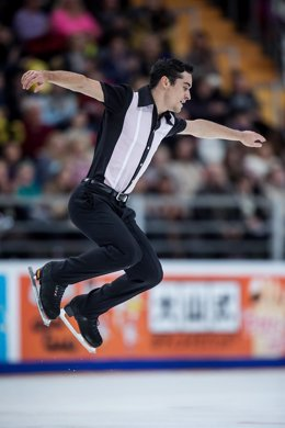 El patinador español Javier Fernández en el GP de París