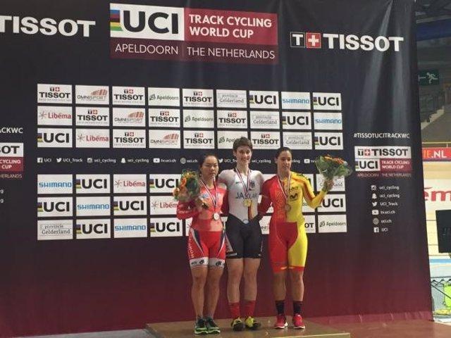 Tania Calvo, bronce en la Copa del Mundo de ciclismo en pista