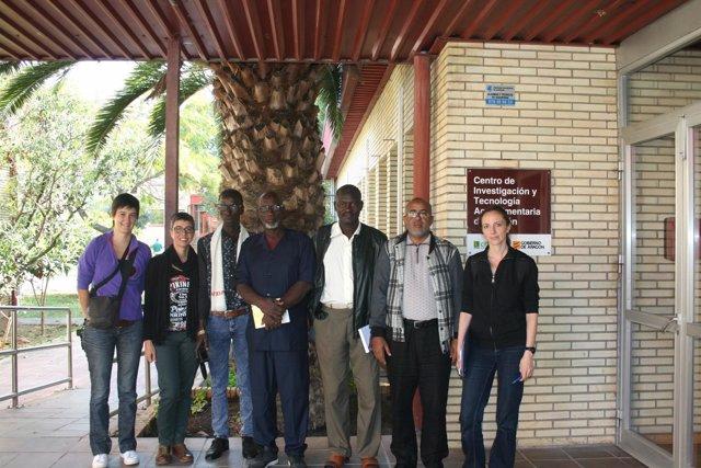 Visita de una delegación de Mauritania al CITA.