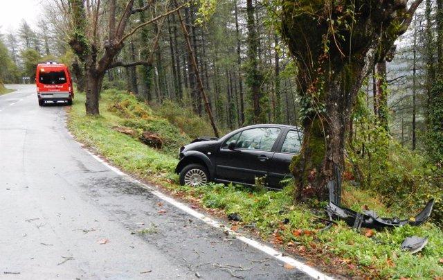Accidene de tráfico en Otsondo
