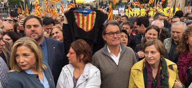 Concentración del 13N en apoyo a los cargos electos soberanistas