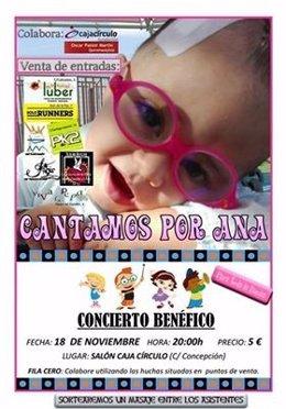 Cartel del Concierto Benéfico en favor de la pequeña Ana