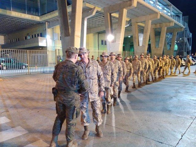 Militares parten de Melilla a Irak