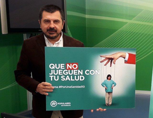 Rueda de prensa del vicesecretario de Coordinación Política de PP-A, Toni Martín