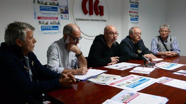 Jubilados y pensionistas de la CIG