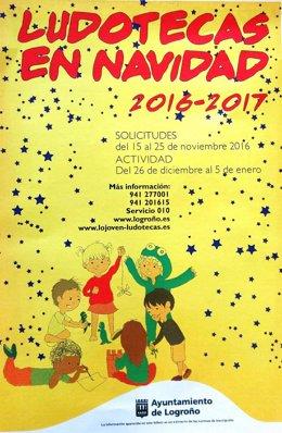 Folleto del programa de Ludotecas de Navidad