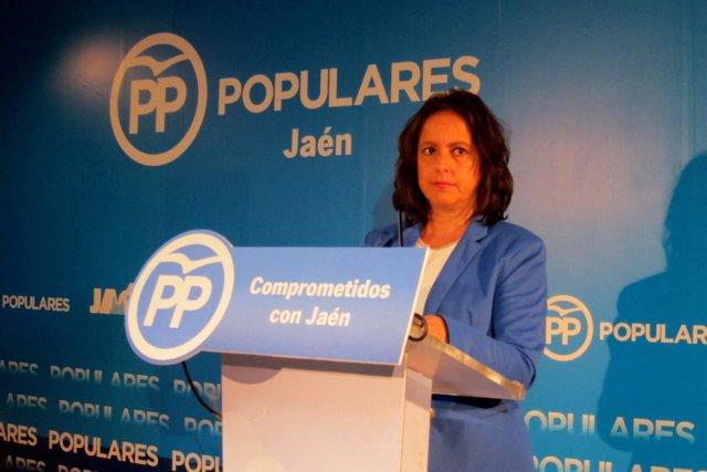 Catalina García en la rueda de prensa.