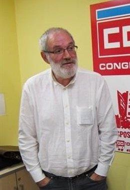 El secretario xeral de CC.OO., Xosé Manuel Sánchez Aguión
