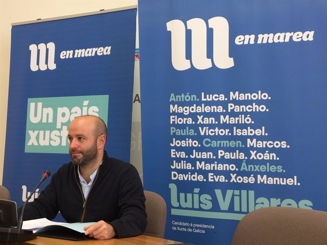 Luís Villares, portavoz parlamentario de En Marea