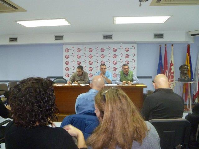 Asamblea Delegados UGT Cantabria Declaraciones Mariano Carmona
