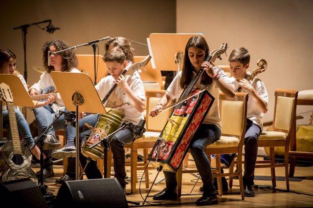 Actuación de la Orquesta de Cateura en el Auditorio Nacional en 2015