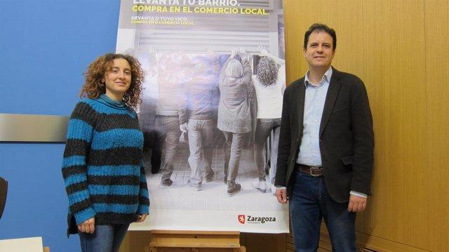Concejala de Educación e Inclusión, Arantza Gracia, y Jesús Blanco, de IMEFEZ