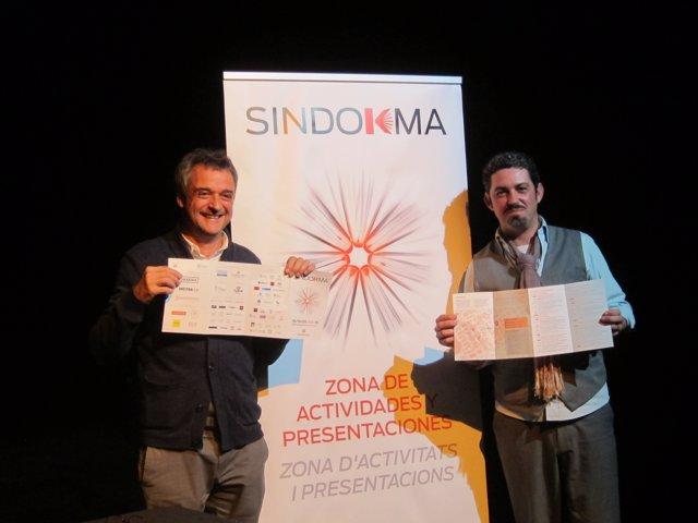 Vicente Xambó y José Ramón Alarcón en la presentación del festival Sindokma