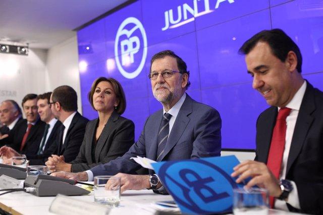 Rajoy y Cospedal en la Junta Directiva Nacional del PP