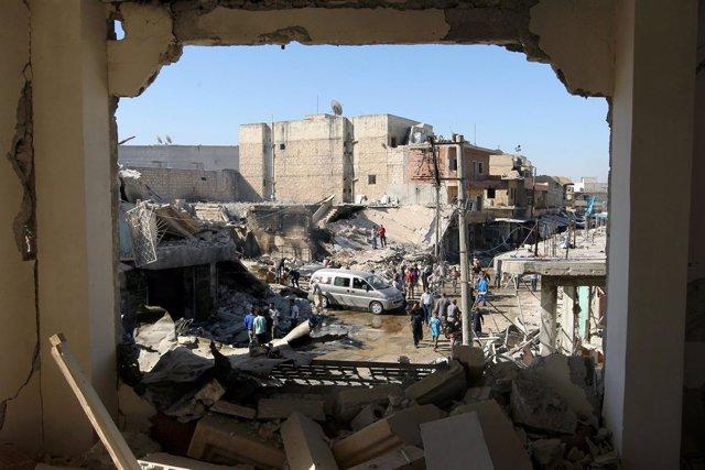Ataque contra la ciudad siria de Atareb