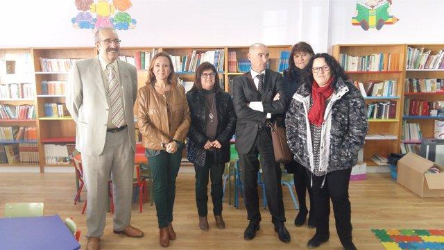 Mayte Pérez en su visita a Calamocha (Teruel)