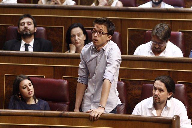 El diputado de Podemos Iñigo Errejón en el Congreso