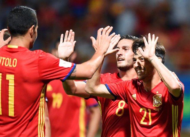 Vitolo David Silva Koke selección española España