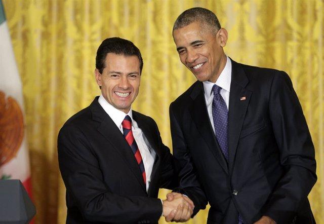 Brack Obama y Enrique Peña Nieto