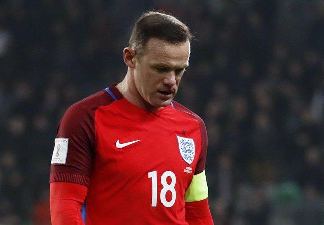 Wayne Rooney con la selección de Inglaterra