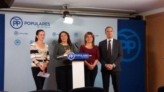 Parlamentarios andaluces del PP por Almería en rueda de prensa