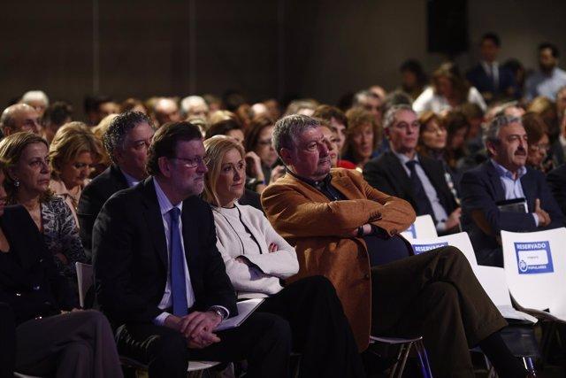 Mariano Rajoy y Cifuentes en la Convención del PP