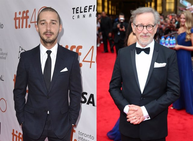 Shia LaBeouf y Steven Spielberg