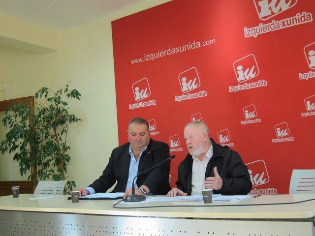 El coordinador de IU Asturias, Ramón Argüelles, y Antonio Pino (CCOO)