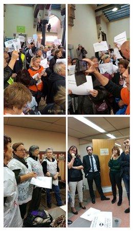 Vecinos protestan contra la precariedad de las urgencias hospitales barcelona