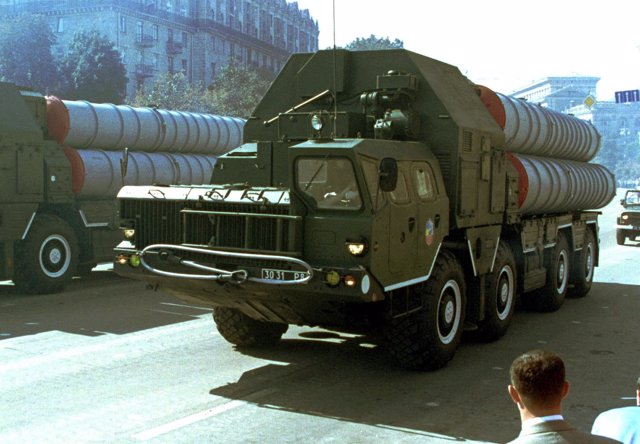 Misiles antiaéreos rusos S-300