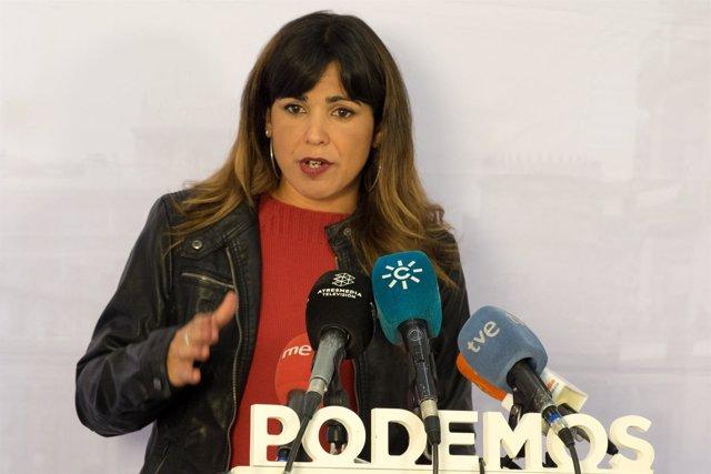 La coordinadora general de Podemos Andalucía, Teresa Rodríguez