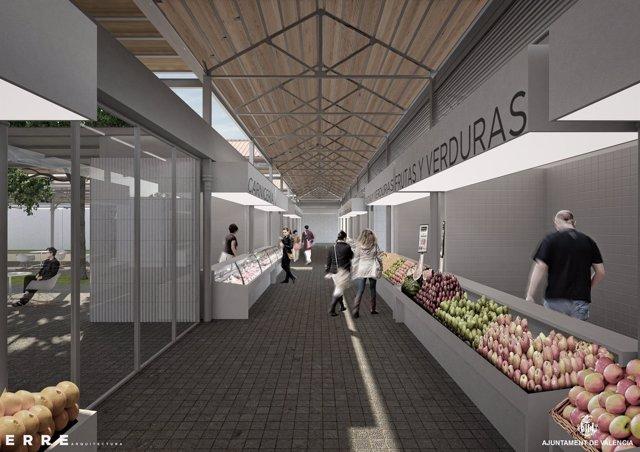 Imagen del proyecto de rehabilitación del nuevo mercado del Grao