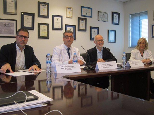 Firma del convenio entre el CHUS, La Rosaleda y Fundación Tierra de Hombres