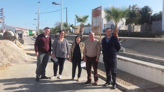 Visita de Diputación a Isla Redonda-La Aceñuela en el marco de los planes Supera