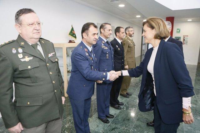 Cospedal visita el Mando de Operaciones del Ejército