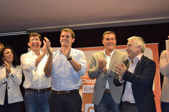 Albert Rivera junto a Juan Marín y diputados andaluces