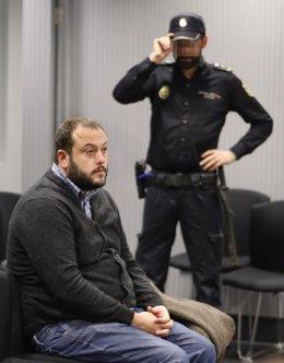 Guillermo Zapata durante el juicio que se sigue contra él hoy en la Audiencia