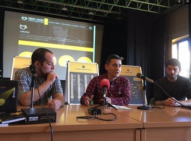 El exdiputado D.Fernández con Lluís Perarnau y Xavier Pellicer