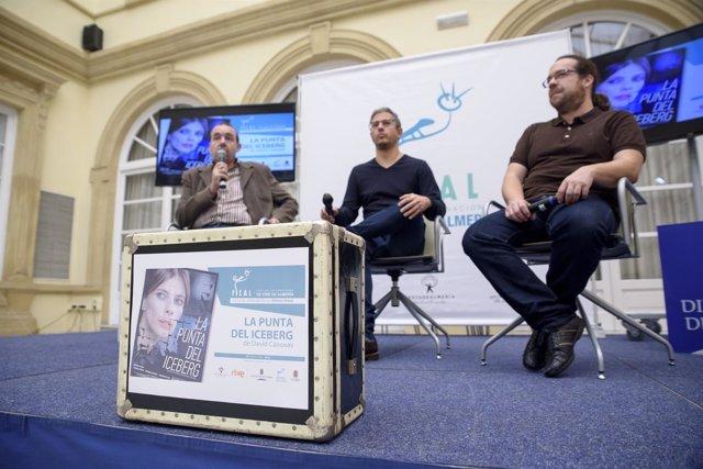 David Cánovas y Antonio Hernández representan 'La punta del iceberg' en Fical.