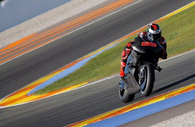 Jorge Lorenzo con la Ducati en Cheste