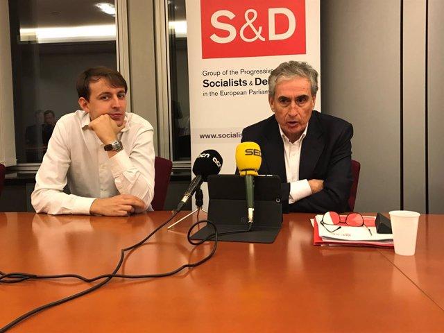 Javi López (PSC) Ramón Jáuregui (PSOE)