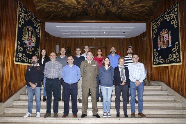 Los 14 militares españoles de la misión de la ONU en Colombi