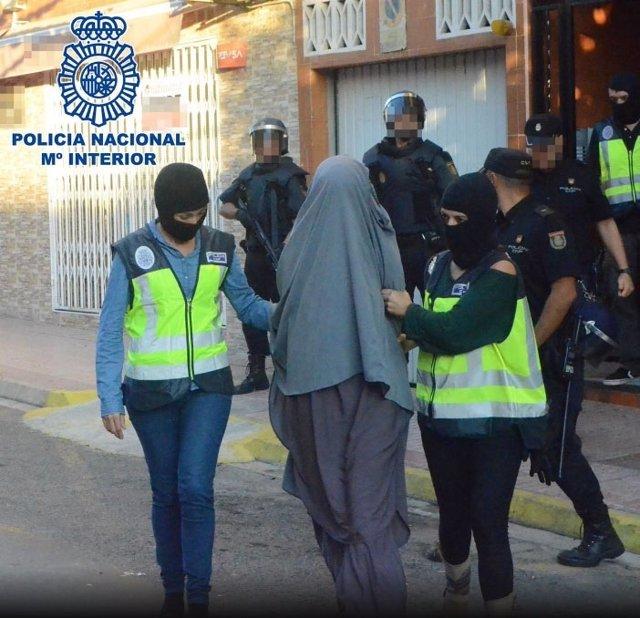 Yihadista detenida por la Policía Nacional