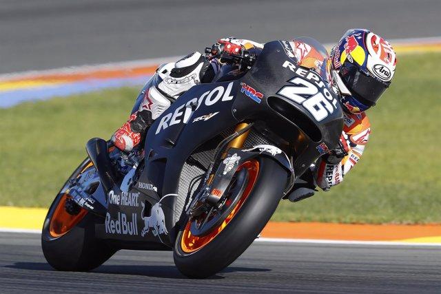 El piloto español Dani Pedrosa en el test de Cheste