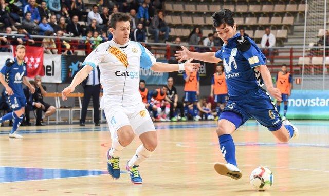 Darlan, de Inter Movistar, ante un rival del Catgas