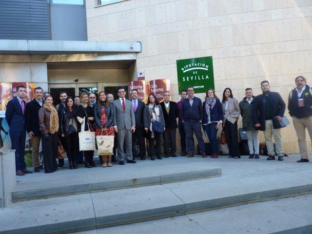 La delegación sevillana en Málaga.