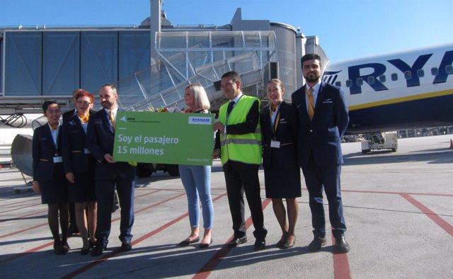 Pasajero 15 millones en el aeropuerto de Málaga-Costa del Sol